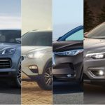 Several views of different SUVs