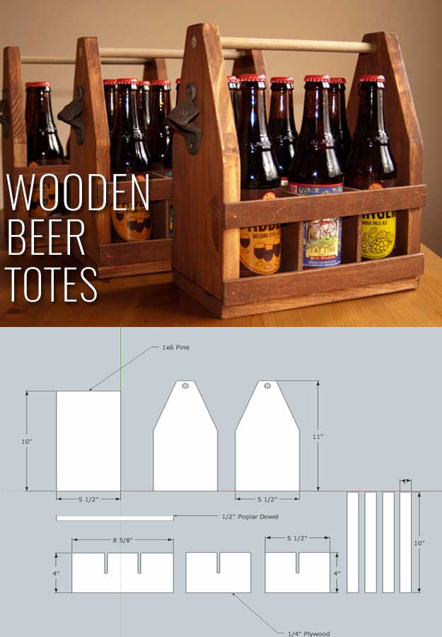 Do it yourself Wooden Beer Totes