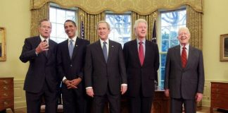 five presidents of the united states in the oval office