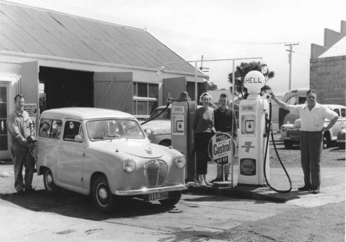 Gas Station, Car, 1960's