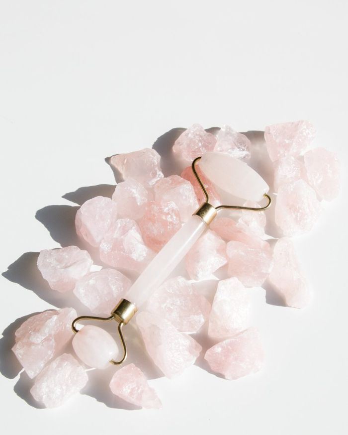 Natural crystal facial rollers are great Christmas gift ideas for women